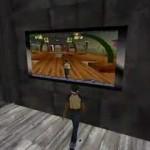 仮想空間の中で仮想空間の映像を観る。