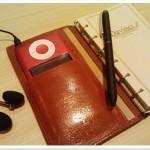 ipod nanoが奇跡的にぴったり入った手帳