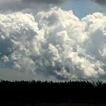 波打ち際のような雲