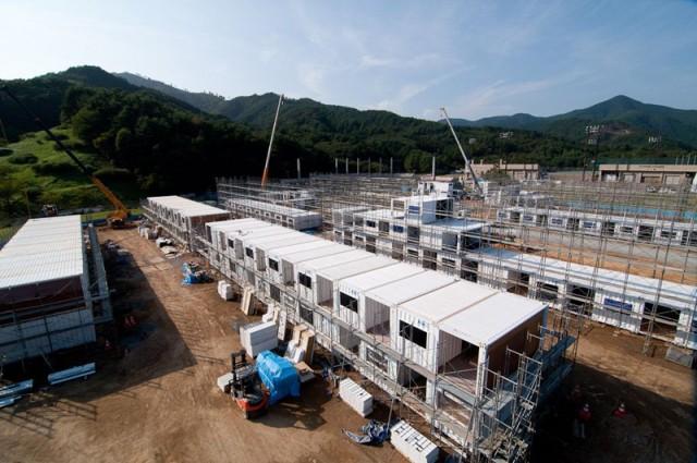 女川町 仮設住宅 Container Temporary Housing